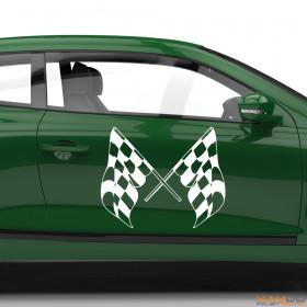 "Autoaufkleber ""Rennflagge 010"""