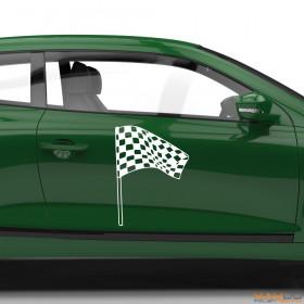 "Autoaufkleber ""Rennflagge 011"""
