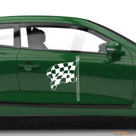 "Autoaufkleber ""Rennflagge 018"""