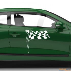 "Autoaufkleber ""Rennflagge 019"""