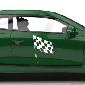 "Autoaufkleber ""Rennflagge 029"""