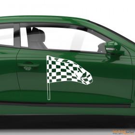 "Autoaufkleber ""Rennflagge 030"""
