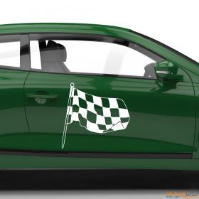 "Autoaufkleber ""Rennflagge 031"""