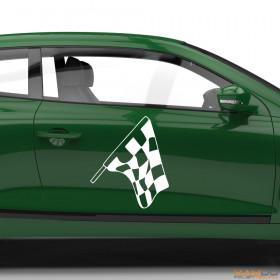 "Autoaufkleber ""Rennflagge 039"""