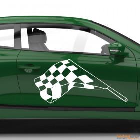 "Autoaufkleber ""Rennflagge 040"""