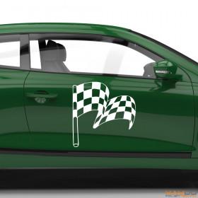 "Autoaufkleber ""Rennflagge 050"""