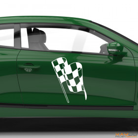 "Autoaufkleber ""Rennflagge 051"""