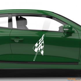 "Autoaufkleber ""Rennflagge 052"""