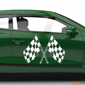 "Autoaufkleber ""Rennflagge 056"""