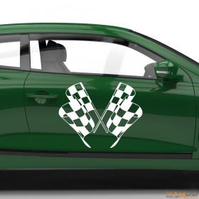 "Autoaufkleber ""Rennflagge 057"""