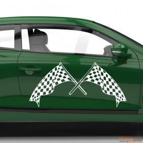"Autoaufkleber ""Rennflagge 058"""