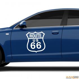 """Autoaufkleber """"Route 66"""""""