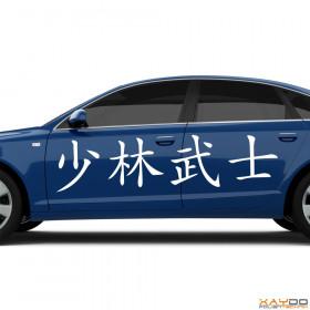 "Autoaufkleber ""ShaolinKämpfer"" (chinesisch)"