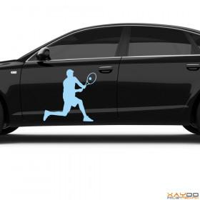 "Autoaufkleber ""Tennis Spieler"""