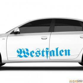 "Autoaufkleber ""Westfalen"""