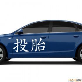 """Autoaufkleber """"Wiedergeburt"""" (chinesisch)"""