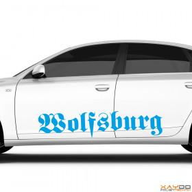 "Autoaufkleber ""Wolfsburg"""