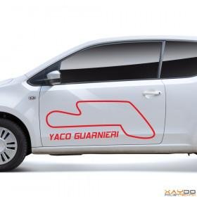 "Autoaufkleber ""Yaco Guarnieri"""