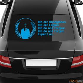 "Autoaufkleber ""Anonymous Logo + Motto"""