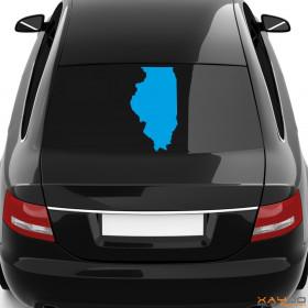 """Autoaufkleber """"Illinois"""""""