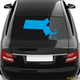 """Autoaufkleber """"Massachusetts"""""""