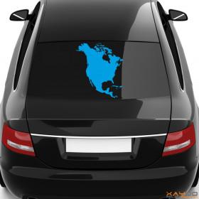 "Autoaufkleber ""Nordamerika"""
