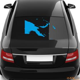 """Autoaufkleber """"Papua-Neuguinea"""""""