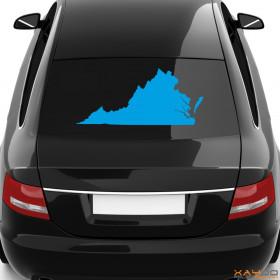 """Autoaufkleber """"Virginia"""""""