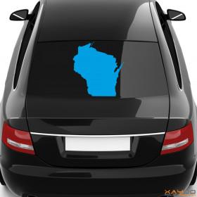 "Autoaufkleber ""Wisconsin"""
