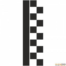 """Rennstreifen """"Flagge C"""" - 2er/31cm"""