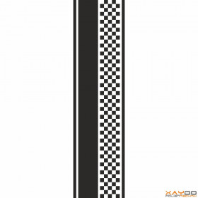 """Rennstreifen """"Flagge D"""" - 5er/26cm"""