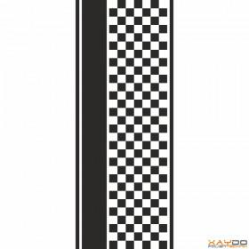 """Rennstreifen """"Flagge D"""" - 7er/39cm"""