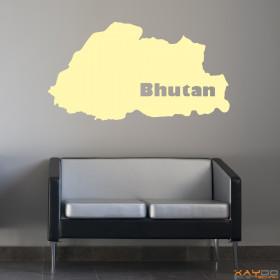 "Wandtattoo ""Bhutan"""