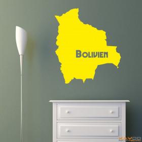 "Wandtattoo ""Bolivien"""