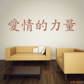 """Wandtattoo """"Kraft der Liebe"""" (chinesisch)"""