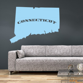 "Wandtattoo ""Connecticut"""