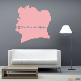 """Wandtattoo """"Elfenbeinküste"""""""