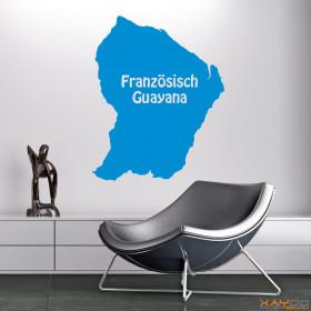 """Wandtattoo """"Französisch Guayana"""""""