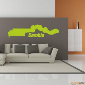 "Wandtattoo ""Gambia"""