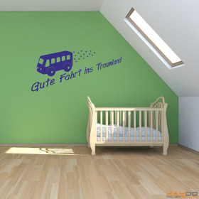 wandtattoo gestern war hier. Black Bedroom Furniture Sets. Home Design Ideas