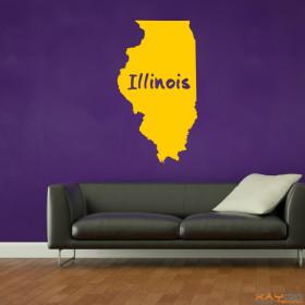 """Wandtattoo """"Illinois"""""""