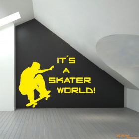 "Wandtattoo ""It´s a Skater World!"""