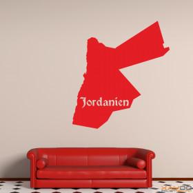 "Wandtattoo ""Jordanien"""