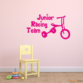 "Wandtattoo ""Junior Racing Team"""