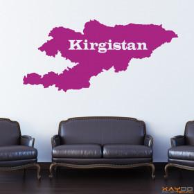 "Wandtattoo ""Kirgistan"""