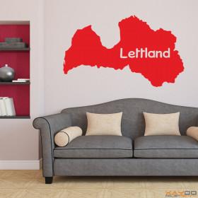 "Wandtattoo ""Lettland"""