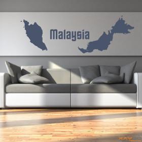 "Wandtattoo ""Malaysia"""
