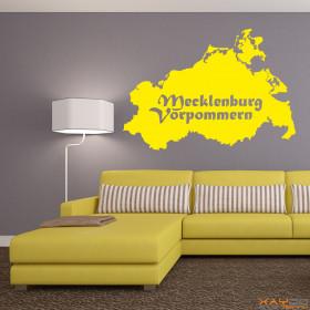 """Wandtattoo """"Mecklemburg-Vorpommern"""""""