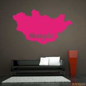 "Wandtattoo ""Mongolei"""