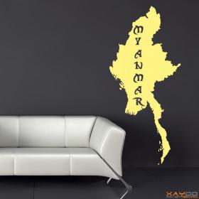 "Wandtattoo ""Myanmar"""